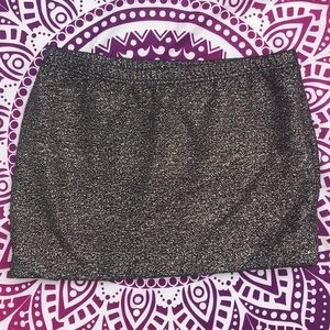 Gold Philosophy Mini Skirt